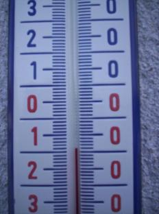 Aktuální teplota -9°C se během dne moc nezměnila